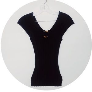 EUC Cache Black Sleeveless Silk Top S